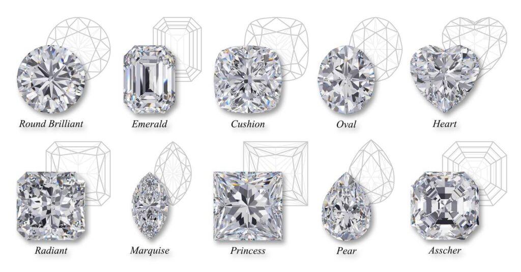 Gyémánt csiszolási formák